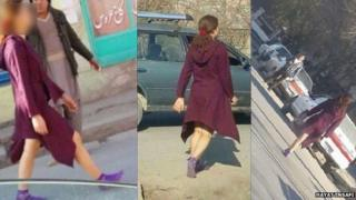 The mysterious woman in a dress in Kabul