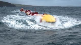 E.On Pelamis being tested off Orkney in 2012