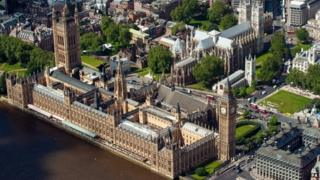 Aerial shot of House of Parliament