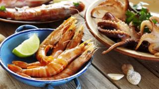 Crustaceans - eg crabs, lobster , prawns and shrimp paste often used in Thai food
