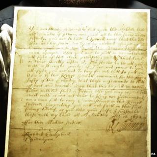 The handwritten order for the massacre of Glencoe