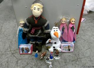 Counterfeit Frozen toys