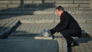 David Cameron at Auschwitz