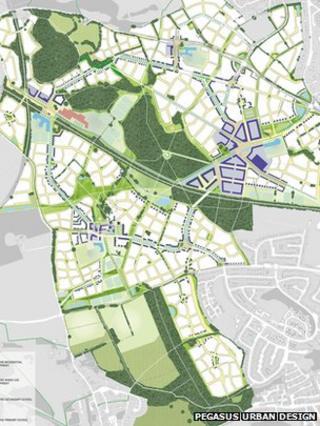A map of the garden city plan