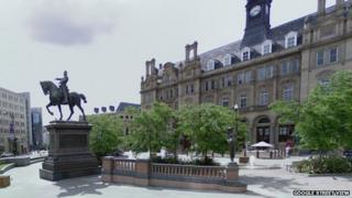 The centre of Leeds