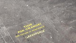 Greenpeace protest at Nazca