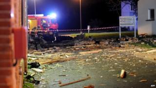 Debris from Alpha Jet crash, Vouvray, 10 Dec 2014