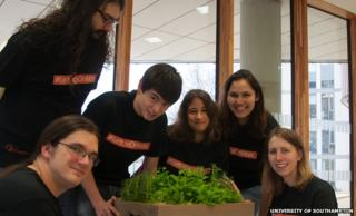 Southampton students on Mars lettuce project