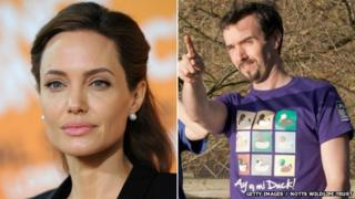 Angelina Jolie, Ay Up Mi Duck t-shirt