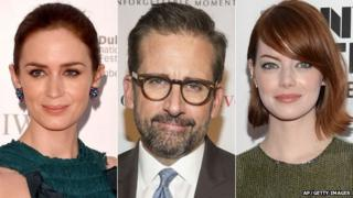 Emily Blunt, Steve Carell and Emma Stone
