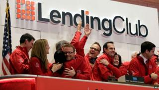 Lending Club staff at NYSE