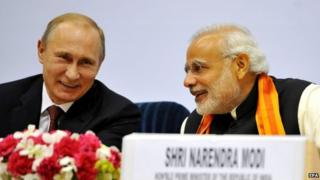 Mr Putin (left) and Mr Modi have pledged to further boost India-Russia partnership