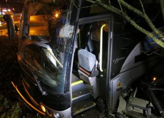 Beccles A146 coach crash