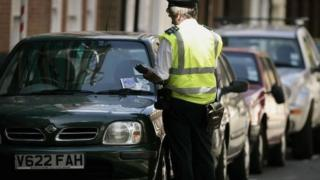 Parking warden in London