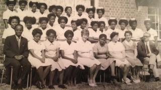 Ivy and the nurses she trained in Malawi