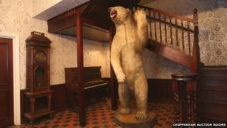 A stuffed polar bear