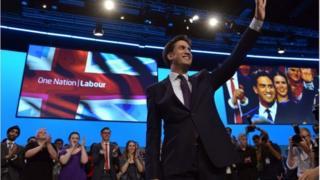 Ed Miliband at Brighton centre