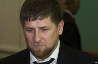 Chechen President Ramzan Kadyrov in Moscow, 4 December