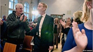 Jim Murphy and supporters