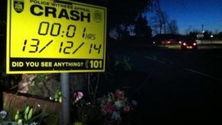 Scene of fatal crash in Lyndhurst