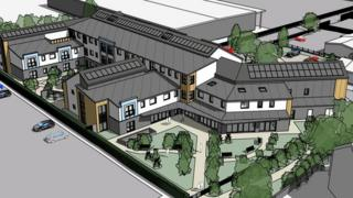 Artist impression for the new extra care home unit