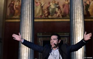 Leader of Syriza party Alexis Tsipras (file pic)