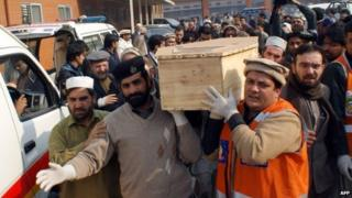 Coffin of Peshawar attack victim