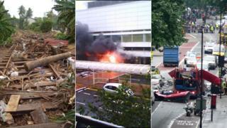 Tsunami, Glasgow airport attack, London bus attack