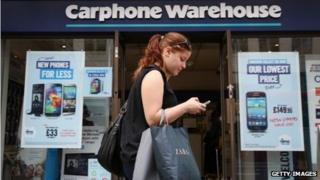 Carphone Warehouse shop