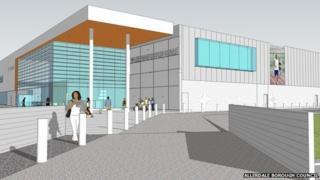 Artist's impression of the new Workington leisure centre
