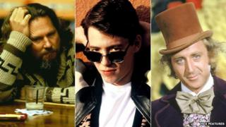 Jeff Bridges in The Big Lebowski, Matthew Broderick in Ferris Bueller's Day Off and Gene Wilder in Willy Wonka and the Chocolate Factory