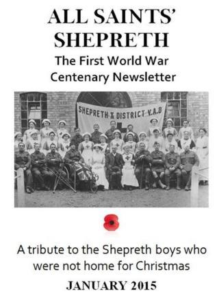 WW1 Christmas newsletter