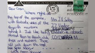 Lost postcard