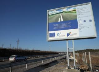 EU-funded road project in Dyakovo, Bulgaria - 13 Jan 14 pic