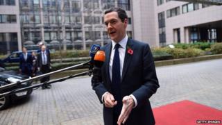 George Osborne in Brussels on 7 November