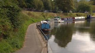 River Avon, Bath, towpath