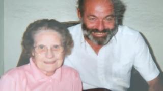 Madge Warren and her nephew Ron Armitage