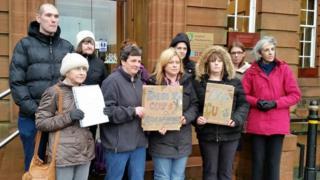 Council protest