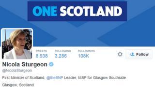 nicola sturgeon twitter page