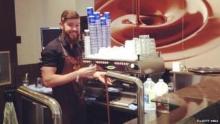 Elliott Vale in Lindt cafe