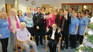 Staff and patients at Hospiscare