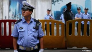 A real Chinese policeman
