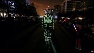 Man in light costume