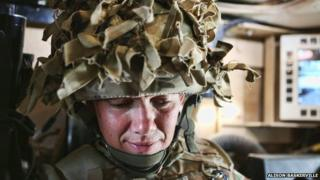A female soldier in Afghanistan