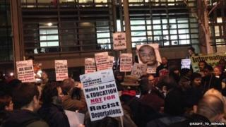 Protest outside the Home Office