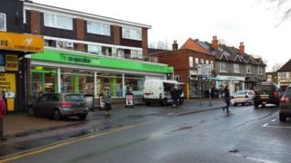 Warlingham Green outside Cop