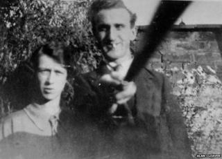 Alan Cleaver from Whitehaven in Cumbria sent a picture of his grandparents - could this be the first photo taken with a 'selfie stick'?