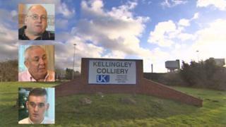 Kellingley Colliery and miners: Nigel Kemp (top), John Tempest, Jack Robertson (bottom).