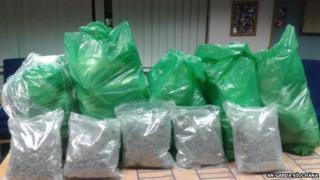 Officers found 34 kilos of herbal cannabis when they searched a house in County Clare