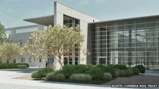 Artist's impression of new West Cumberland Hospital